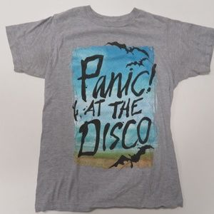 Panic! At The Disco T-Shirt Gray Small Tultex